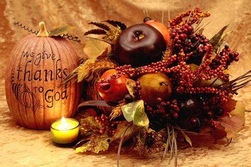 Spirituality「Holiday: Give Thanks to God pumpkin and cornucopia」:スマホ壁紙(17)
