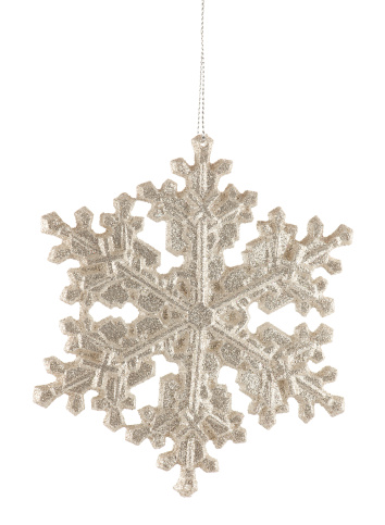 雪の結晶「Silver Glitter Snowflake Holiday Ornament  」:スマホ壁紙(4)