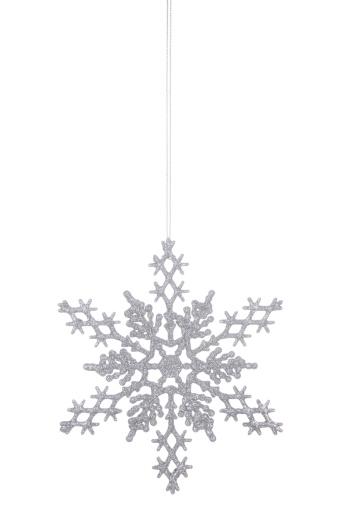 雪の結晶「シルバーのグリッターの雪の結晶」:スマホ壁紙(11)