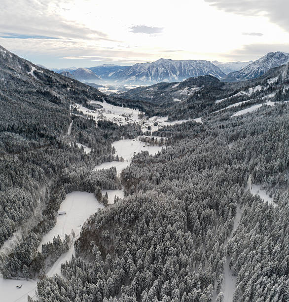 Austrian Alps covered with Snow, Ausseerland, Styria, Austria:スマホ壁紙(壁紙.com)