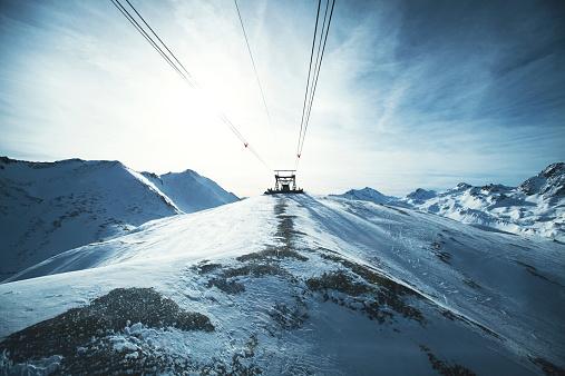 スキー「オーストリアのアルプス」:スマホ壁紙(8)