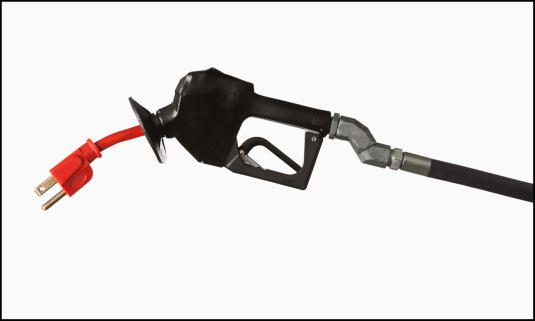 Hose「Studio shot of electric plug for vehicle」:スマホ壁紙(11)