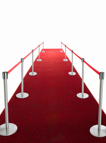 Pole「Studio shot of red carpet with stanchions and velvet rope」:スマホ壁紙(7)