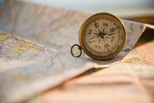 Navigational Compass「Studio Shot of maps and compass」:スマホ壁紙(6)