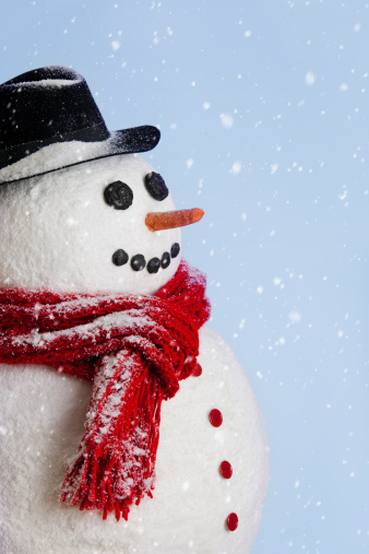 雪だるま「Studio shot of snowman」:スマホ壁紙(1)