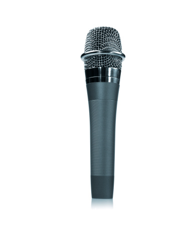Media Equipment「Studio shot of microphone on white background」:スマホ壁紙(19)