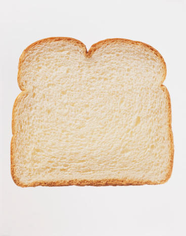Bread「Studio Shot of a Slice of White Bread Against a White Background」:スマホ壁紙(1)