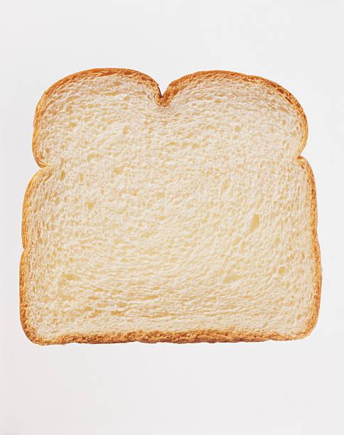Studio Shot of a Slice of White Bread Against a White Background:スマホ壁紙(壁紙.com)