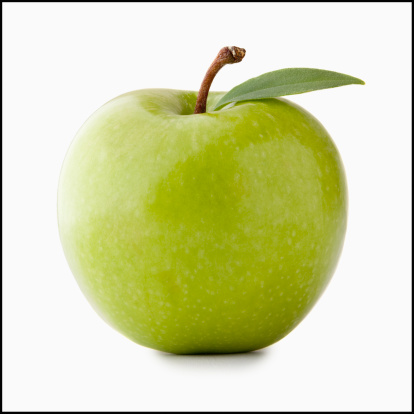 Apple - Fruit「Studio shot of green apple」:スマホ壁紙(1)