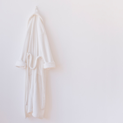 Health Spa「Studio shot of white bathrobe」:スマホ壁紙(12)