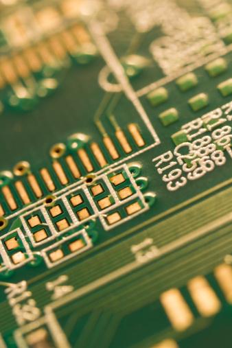 Mother Board「Studio shot of computer chip」:スマホ壁紙(4)