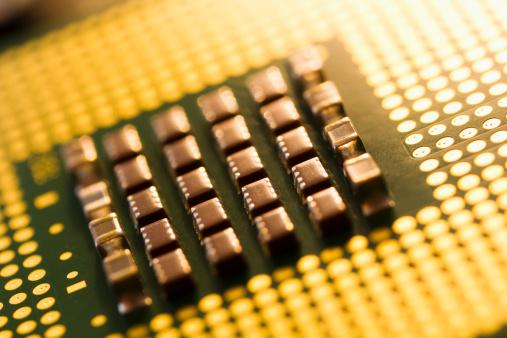 Mother Board「Studio shot of computer chip」:スマホ壁紙(8)