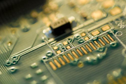 Mother Board「Studio shot of computer chip」:スマホ壁紙(16)
