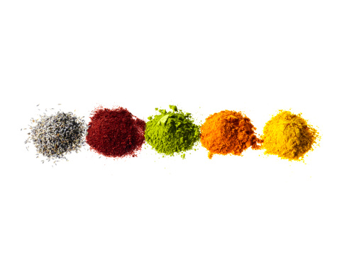 Spice「Studio shot of piles of spices」:スマホ壁紙(1)