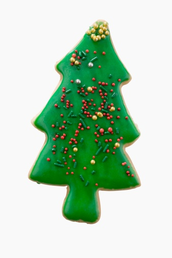 クッキー「Studio shot of Christmas tree cookie」:スマホ壁紙(19)