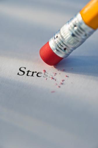 Emotional Stress「Studio shot of pencil erasing the word stress from piece of paper」:スマホ壁紙(18)