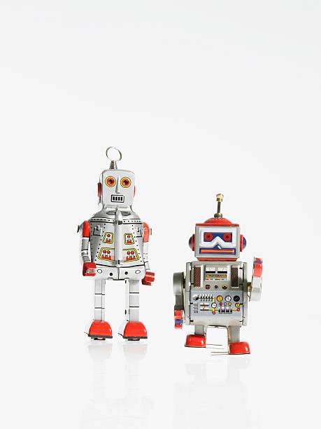 Studio shot of book robots:スマホ壁紙(壁紙.com)