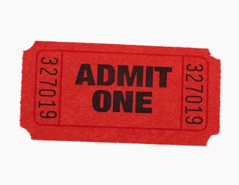 Ticket「Studio shot of Admit One ticket」:スマホ壁紙(10)