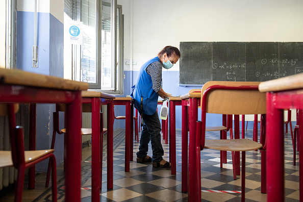 Education「Italy: Back To School Amid Coronavirus Pandemic」:写真・画像(16)[壁紙.com]