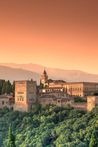 Moorish「Alhambra Palace complex, Andalucia, Granada」:スマホ壁紙(10)