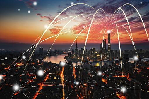 世界の風景(地域別)「上海市のネットワーク技術」:スマホ壁紙(13)