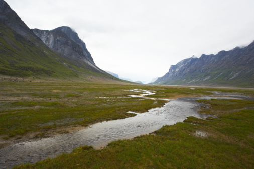 Eco Tourism「River in scenic glacial valley in Arctic」:スマホ壁紙(8)