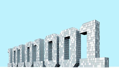Internet of Things「Buildings in the shape of binary numbers」:スマホ壁紙(0)