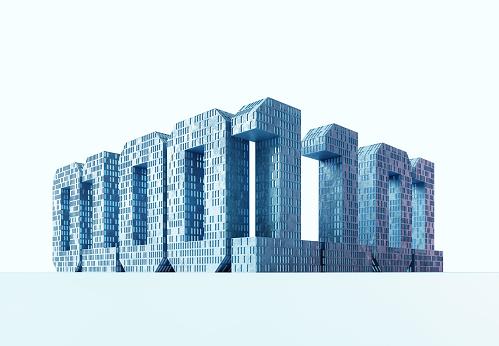 Internet of Things「Buildings in the shape of binary numbers」:スマホ壁紙(4)