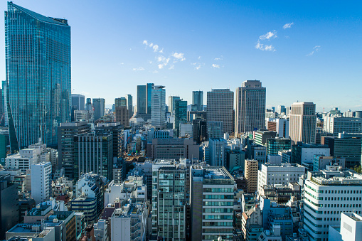 Multi-Colored Background「Buildings in Tokyo.」:スマホ壁紙(14)