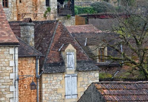 Nouvelle-Aquitaine「Buildings in Castelnaud, Dordogne, France」:スマホ壁紙(17)