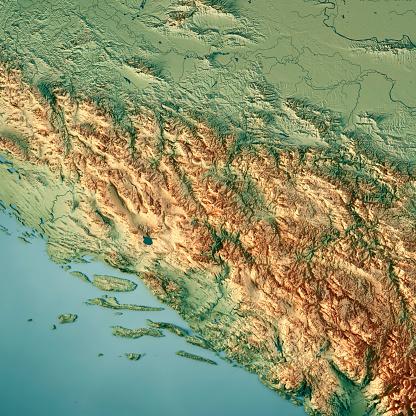CG「ボスニア ・ ヘルツェゴビナ国 3 D 地形図を表示します。」:スマホ壁紙(17)