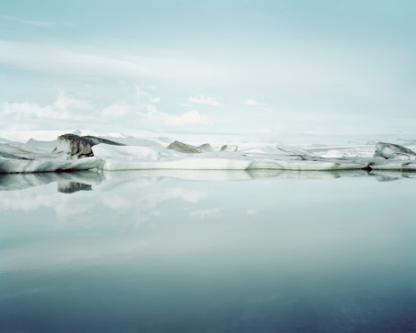 View Into Land「Ice Melt in Jökulsárlón, Iceland」:スマホ壁紙(8)