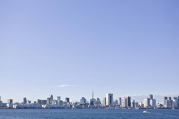 Blue Sky Over Tokyo Skyline:スマホ壁紙(壁紙.com)