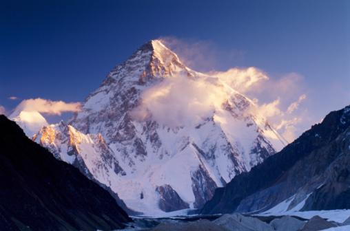Himalayas「Pakistan, Karakorum range, Concordia and K2 covered in snow」:スマホ壁紙(6)