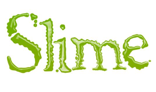 文字「Slime」:スマホ壁紙(18)