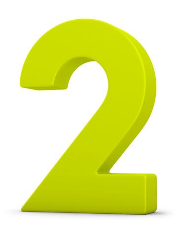 Number 2「green number 2」:スマホ壁紙(2)