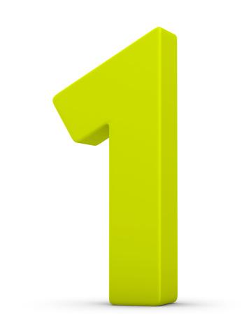 Number 1「green number 1」:スマホ壁紙(2)