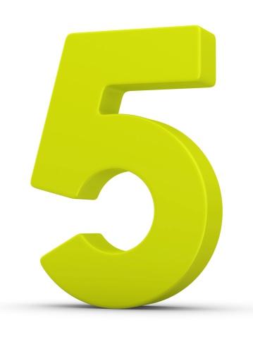 Number 5「green number 5」:スマホ壁紙(9)