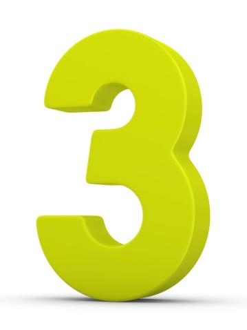 Number「green number 3」:スマホ壁紙(2)
