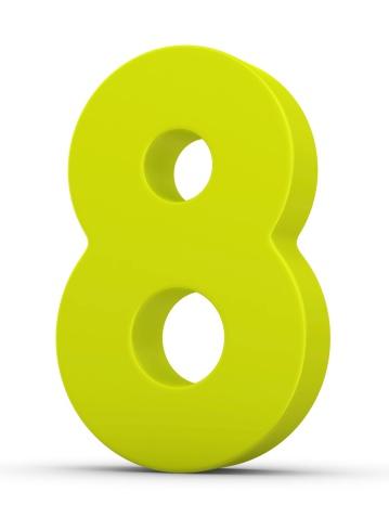 Number 8「green number 8」:スマホ壁紙(2)
