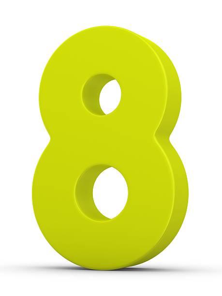 緑色数字の 8:スマホ壁紙(壁紙.com)