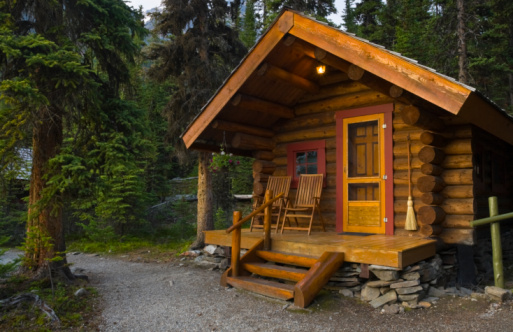 British Columbia「Log Cabin In The Forest」:スマホ壁紙(18)