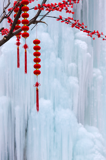 梅の花「Hebei chengde frozen waterfalls」:スマホ壁紙(4)