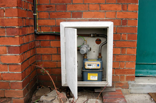 Gas meter cupboard outside a private house.:ニュース(壁紙.com)