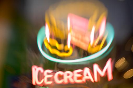 "Indigestion「Neon ""Ice Cream"" Sign」:スマホ壁紙(19)"