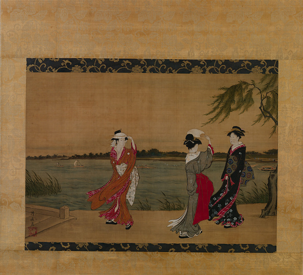 Water's Edge「Three Girls On A Riverbank」:写真・画像(2)[壁紙.com]