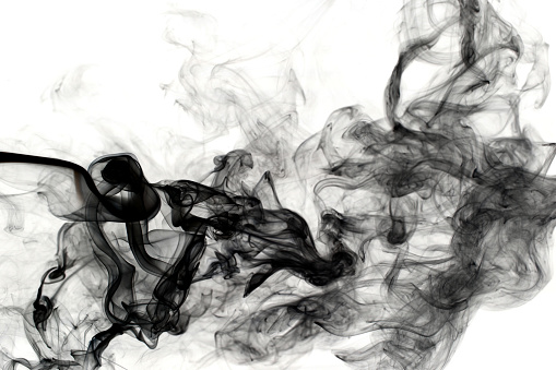 Abstract Backgrounds「Black Smoke」:スマホ壁紙(9)