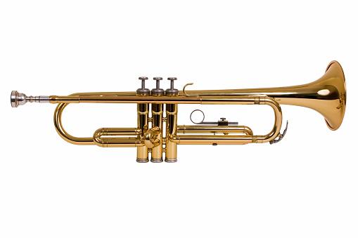 Wind Instrument「isolated trumpet」:スマホ壁紙(6)