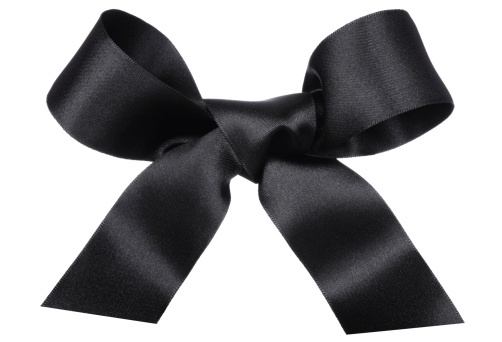Black Color「Big Black Bow」:スマホ壁紙(4)