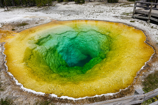朝顔「Morning Glory Pool, Upper Geyser Basin, Yellowstone National Park, Wyoming」:スマホ壁紙(8)